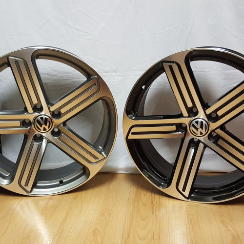 "GOLF R REPZ. 19"" ET35 5/112PCD GUNMETAL MACHINED / BLACK MACHINED"