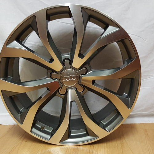 AUDI R8 REPZ. 18×8J ET45 5/112PCD DARK GREY POLISHED. ALSO AVAILABLE FOR VW POLO FITMENT 17×7.5J ET35 5/100PCD