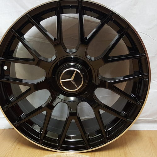 "MERCEDES-BENZ AMG "" MODEL1261 "" 18×8.5J ET42 5/112PCD BLACK MACHINED LIP"