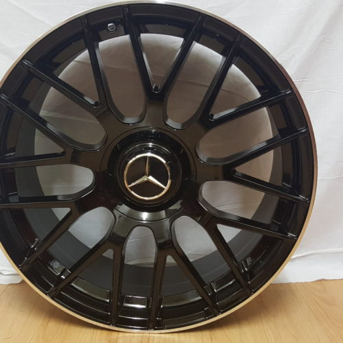 MERCEDES-BENZ. MODEL1261. 19×8.5J ET42 5/112PCD BLACK MACHINED LIP