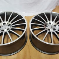 MERCEDES-BENZ AMG . MODEL1224. 19×8.5J ET42 FRONT & 9.5J ET44 REAR 5/112PCD GREY POLISHED