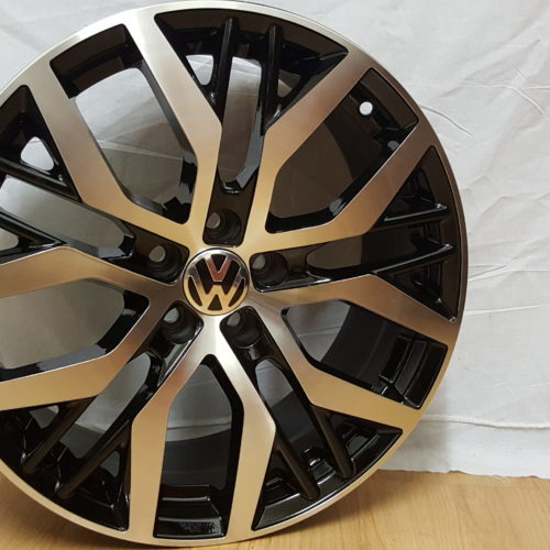NEW POLO FITMENT. GTI MODEL5436 17×7.5J ET35 5100PCD BLACK MACHINED