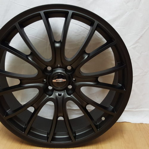 MINI JOHN COOPER WHEELS. MODEL8076, 18×7J ET40 4/100PCD MATT BLACK