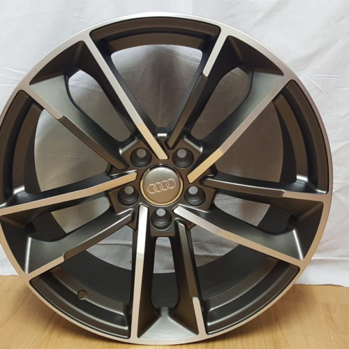 AUDI RSQ1. 19×8.5J ET35/45 5/112PCD MATT GUNMETAL POLISHED. MODEL1329